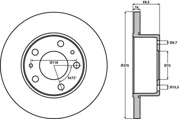 Тормозной диск JURID 569106J