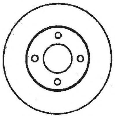 Тормозной диск BENDIX 561239B