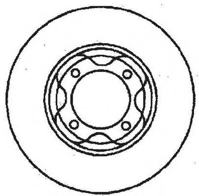 Тормозной диск BENDIX 561395B
