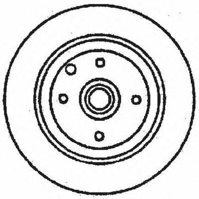 Тормозной диск BENDIX 561694B