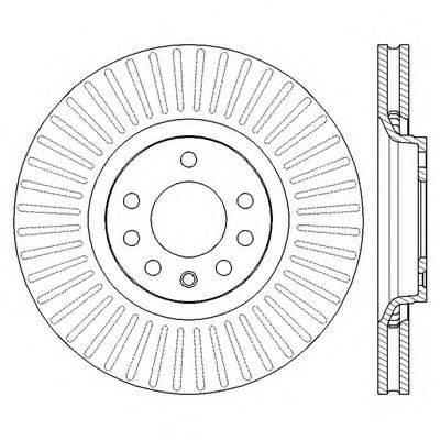 Тормозной диск BENDIX 562423B