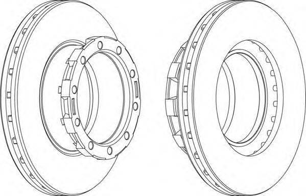 FERODO (НОМЕР: FCR168A) Тормозной диск