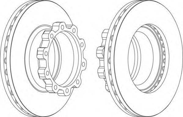 FERODO (НОМЕР: FCR170A) Тормозной диск