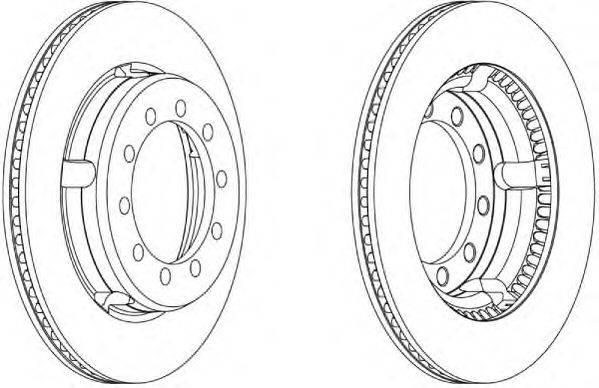 FERODO (НОМЕР: FCR179A) Тормозной диск