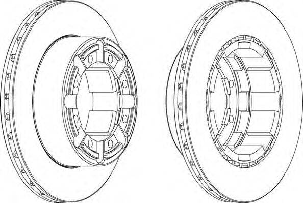 FERODO (НОМЕР: FCR184A) Тормозной диск