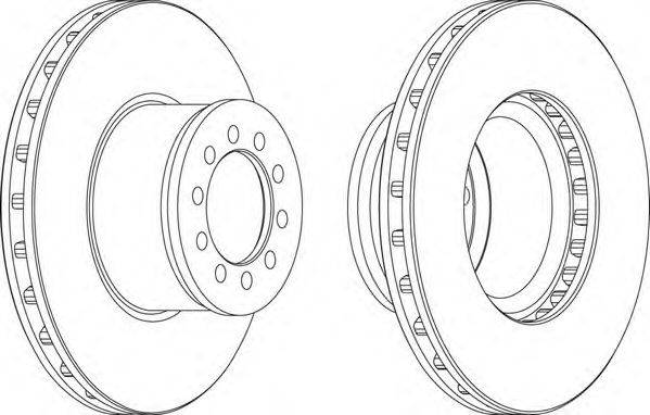 FERODO (НОМЕР: FCR186A) Тормозной диск