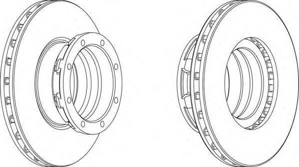 FERODO (НОМЕР: FCR188A) Тормозной диск
