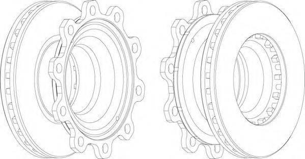 FERODO (НОМЕР: FCR193A) Тормозной диск