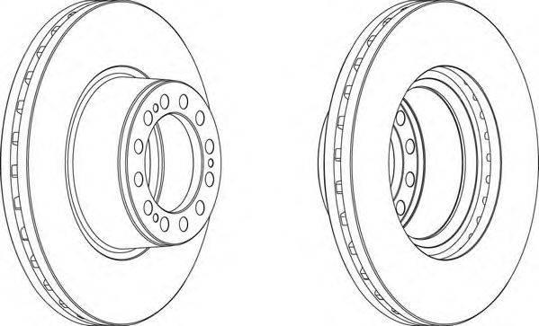 FERODO (НОМЕР: FCR201A) Тормозной диск