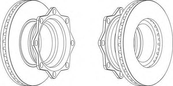 FERODO (НОМЕР: FCR202A) Тормозной диск