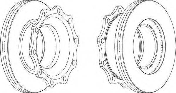 FERODO (НОМЕР: FCR203A) Тормозной диск