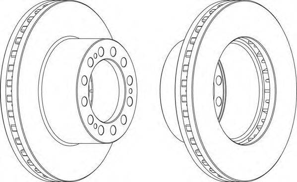 FERODO (НОМЕР: FCR204A) Тормозной диск