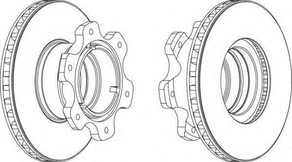 FERODO (НОМЕР: FCR208A) Тормозной диск