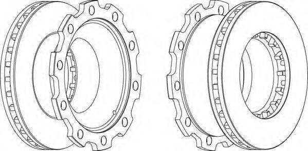 FERODO (НОМЕР: FCR210A) Тормозной диск