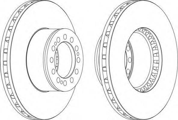 FERODO (НОМЕР: FCR212A) Тормозной диск