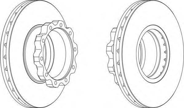 FERODO (НОМЕР: FCR215A) Тормозной диск