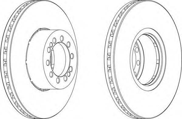 FERODO (НОМЕР: FCR218A) Тормозной диск
