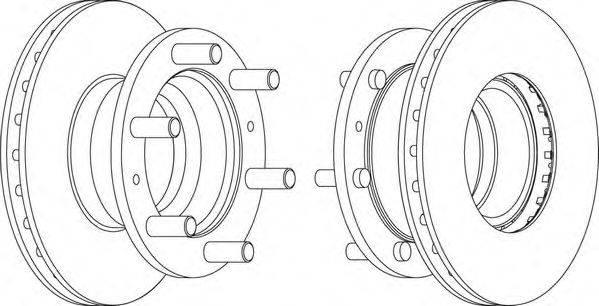 FERODO (НОМЕР: FCR233A) Тормозной диск