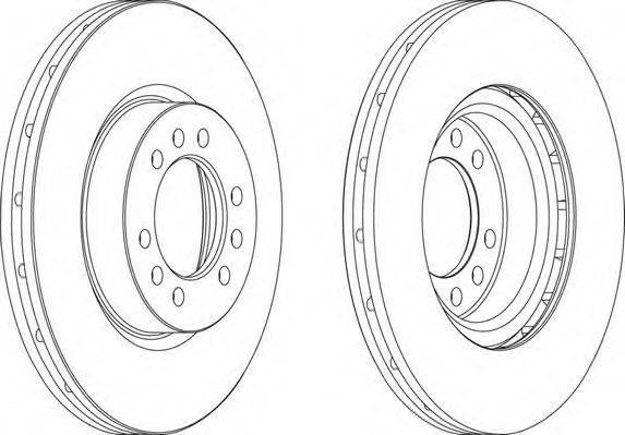 FERODO (НОМЕР: FCR235A) Тормозной диск