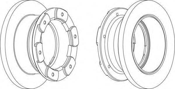 FERODO (НОМЕР: FCR236A) Тормозной диск
