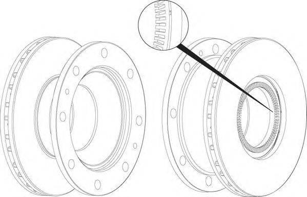 FERODO (НОМЕР: FCR237A) Тормозной диск