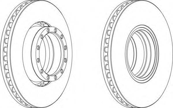 FERODO (НОМЕР: FCR251A) Тормозной диск
