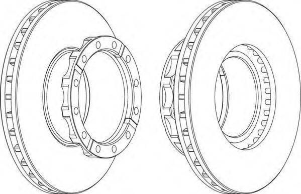 FERODO (НОМЕР: FCR254A) Тормозной диск