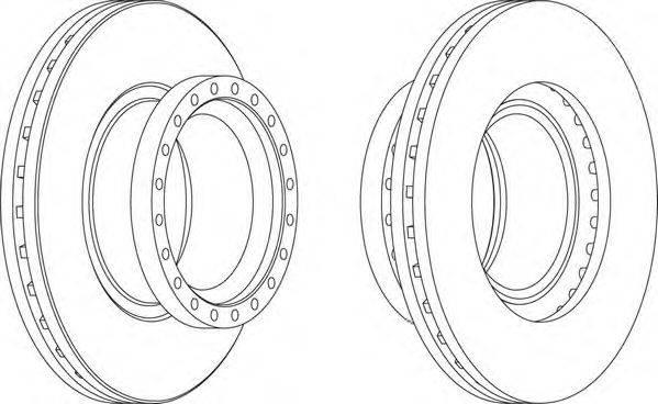 FERODO (НОМЕР: FCR282A) Тормозной диск