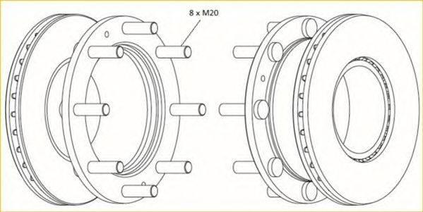 FERODO (НОМЕР: FCR307A) Тормозной диск