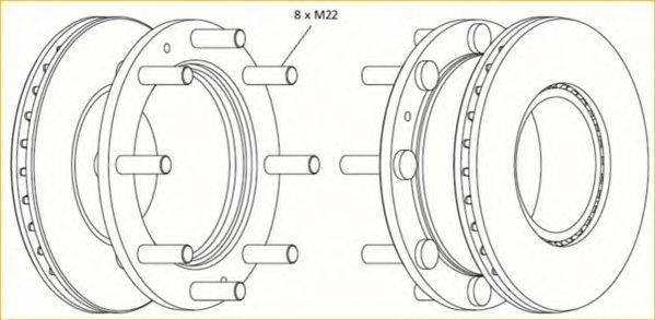 FERODO (НОМЕР: FCR308A) Тормозной диск