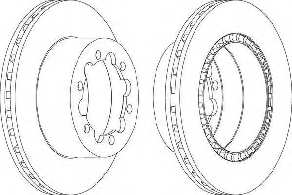 FERODO (НОМЕР: FCR312A) Тормозной диск
