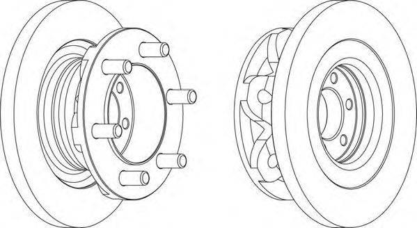 FERODO (НОМЕР: FCR313A) Тормозной диск