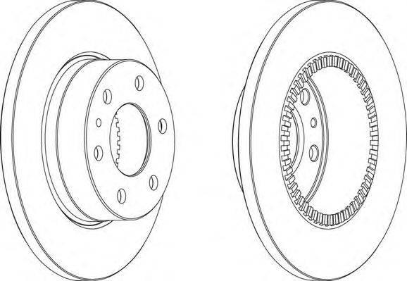 FERODO (НОМЕР: FCR316A) Тормозной диск