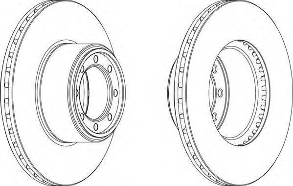 FERODO (НОМЕР: FCR320A) Тормозной диск