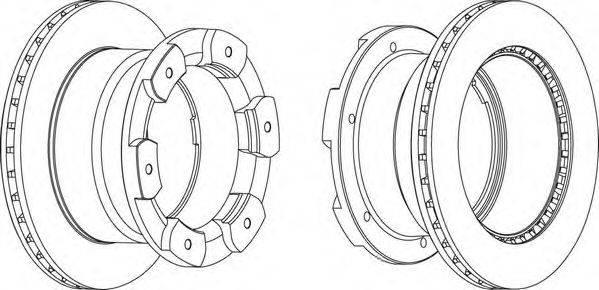 FERODO (НОМЕР: FCR332A) Тормозной диск