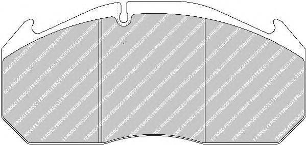 FERODO (НОМЕР: FCV1086B) Комплект тормозных колодок, дисковый тормоз