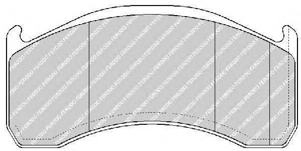 FERODO (НОМЕР: FCV1387B) Комплект тормозных колодок, дисковый тормоз