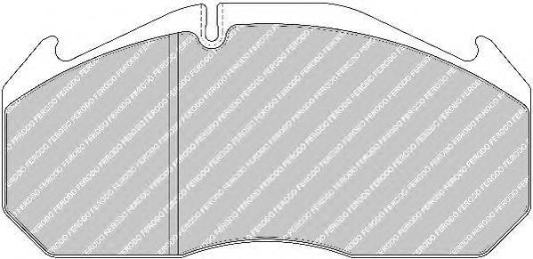 FERODO (НОМЕР: FCV1583B) Комплект тормозных колодок, дисковый тормоз