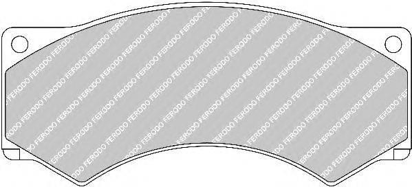 FERODO (НОМЕР: FCV376) Комплект тормозных колодок, дисковый тормоз