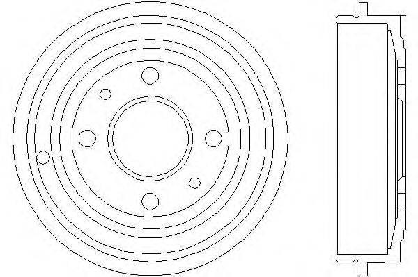 Тормозной барабан MINTEX MBD023