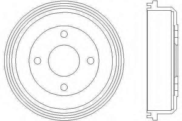Тормозной барабан MINTEX MBD022
