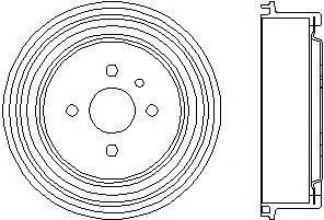 Тормозной барабан MINTEX MBD003