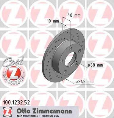 Тормозной диск ZIMMERMANN 100.1232.52