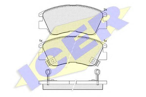 Комплект тормозных колодок, дисковый тормоз ICER 140701