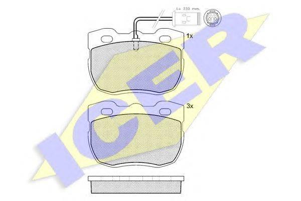 Комплект тормозных колодок, дисковый тормоз ICER 140839