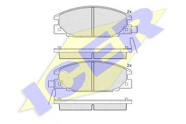 Комплект тормозных колодок, дисковый тормоз ICER 140854