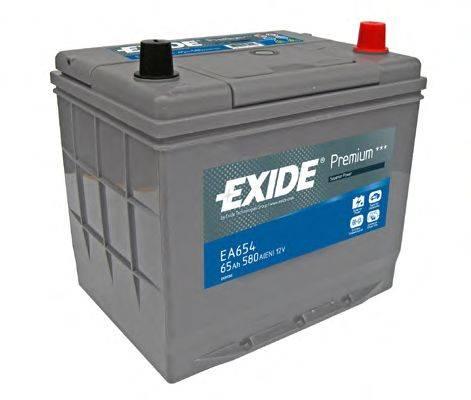 Стартерная аккумуляторная батарея; Стартерная аккумуляторная батарея EXIDE EA654