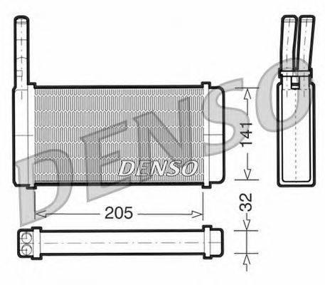 Теплообменник, отопление салона NPS DRR10010