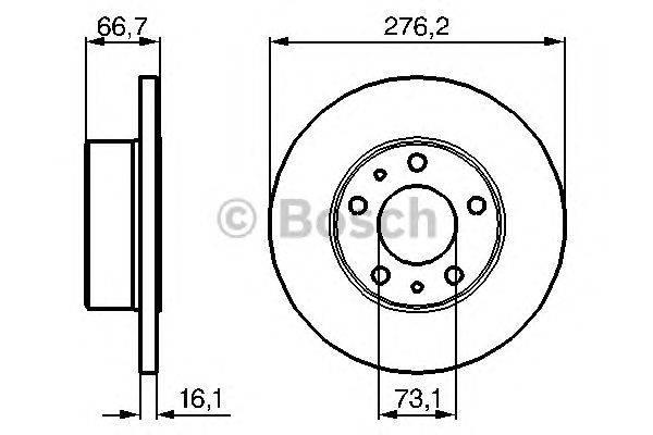 Тормозной диск BOSCH 0 986 479 163