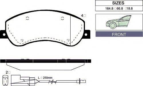 Комплект тормозных колодок, дисковый тормоз GOODWILL 1047 F